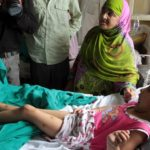 Five year-old Zohra Zahoor, who has pellet wounds in her legs, forehead and abdomen, admitted a hospital in srinagar.  The death toll has reached 37 as an injured scumbed at SMHS. More than 1300 people have been injured since Friday night.Express Photo by Shuaib Masoodi 14-07-2016